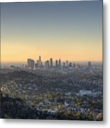 City Of Los Angeles At Dawn Metal Print