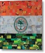 City Of Miami Flag Metal Print