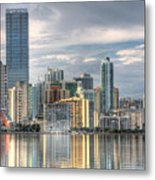City Of Miami Metal Print by William Wetmore