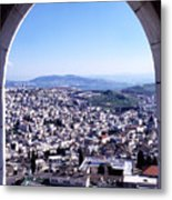 City Of Nazareth From The Saint Gabriel Bell Tower Metal Print by Thomas R Fletcher
