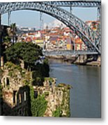 City Of Porto In Portugal Picturesque Scenery Metal Print
