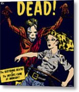 City Of The Living Dead Comic Book Poster Metal Print