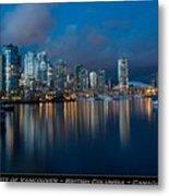 City Of Vancouver British Columbia Canada Metal Print