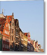 City Of Wroclaw Old Town Skyline At Sunset Metal Print