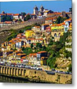 City On A Hillside Metal Print