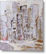 City On The River  Metal Print