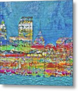City On The Water Metal Print