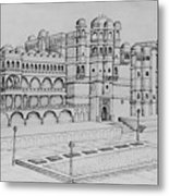 City Palace Of Udaipur  Metal Print