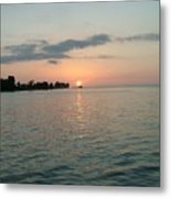 City Pier Holmes Beach Bradenton Florida Metal Print