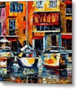 City Pier - Palette Knife Oil Painting On Canvas By Leonid Afremov Metal Print