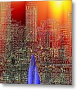 City Sailin Metal Print