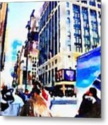 City Shopping Metal Print
