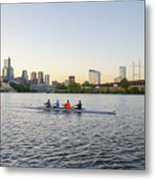 City Skyline - Philadelphia On The Schuylkill River Metal Print