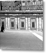 City Square Vintage Black And White  Metal Print
