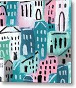 City Stories- Church On The Hill Metal Print