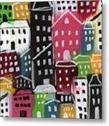 City Stories- Colorful Metal Print