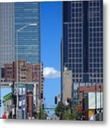 City Street Canyon Metal Print