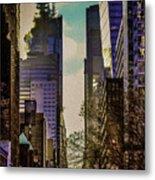 City Street Metal Print