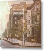 City Streets In Grunge 2 Metal Print