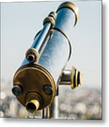City Telescope Metal Print