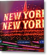 City That Never Sleeps Metal Print