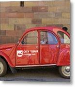 City Tour Car Strasbourg France Metal Print
