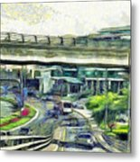 City Traffic Metal Print