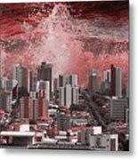 City Under Water Metal Print