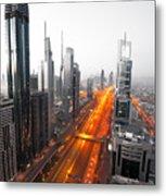 City Veins Dubai Metal Print