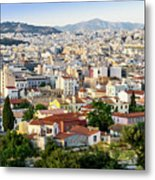 City View Of Old Buildings In Athens, Greece Metal Print