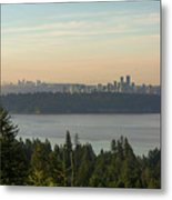 City View Of Vancouver And Burnaby Bc Metal Print