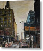 City With Barrels Metal Print