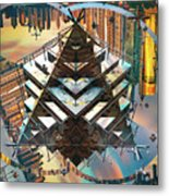 Cityline Abstract IIi Metal Print