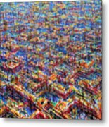 Citypattern Metal Print