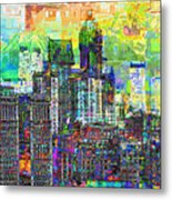 Cityscape Art City Optimist Metal Print