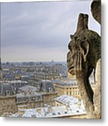 Cityscape From Notre Dame, Paris Metal Print by Zens photo