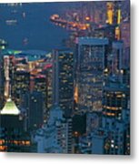 Cityscape From Victoria Peak Metal Print