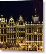 Cityscape In Brussels Europe - Landmark Of Brussels, Belgium Metal Print