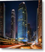 Cityscape Of Building In Hong Kong Metal Print