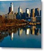 Cityscape Of Philadelphia Pa Metal Print by Louis Dallara