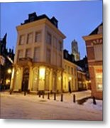 Cityscape Of Utrecht In The Evening At Pausdam 5 Metal Print