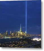Cityscape Tribute In Lights Nyc Metal Print