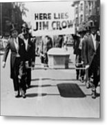 Civil Rights Demonstration In A Naacp Metal Print by Everett