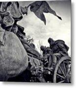 Civil War In Bronze Metal Print
