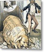 Civil War Pensions, 1888 Metal Print