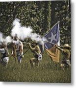 Civil War Re-enactment Metal Print