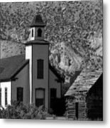 Clapboard Church 1898 Metal Print