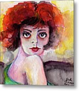 Clara Bow Vintage Movie Stars The It Girl Flappers Metal Print