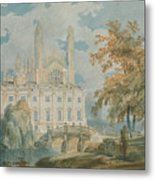 Clare Hall And Kings College Chapel, Cambridge  Metal Print
