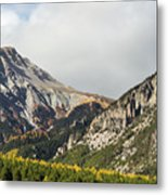 Claree Valley In Autumn - 12 - French Alps Metal Print